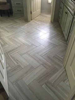 anyone done plank porcelain floor tiles