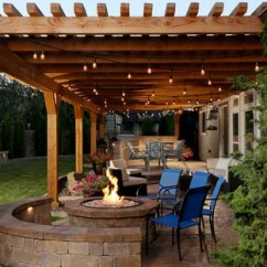 Patio Kitchen Cottage Style Cabinets 75 Most Popular Design Ideas For 2019 Stylish Mid Sized Rustic Backyard Stamped Concrete Idea In Boise With