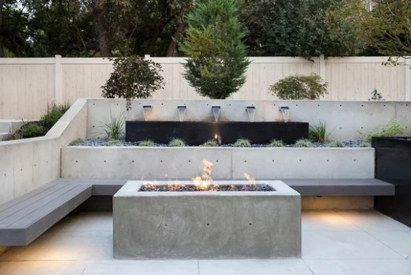 contemporary retaining walls