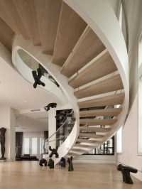 Wood Spiral Stair Ideas, Pictures, Remodel and Decor