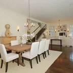Glamorous White Crystal Chandelier in Transitional Dining ...