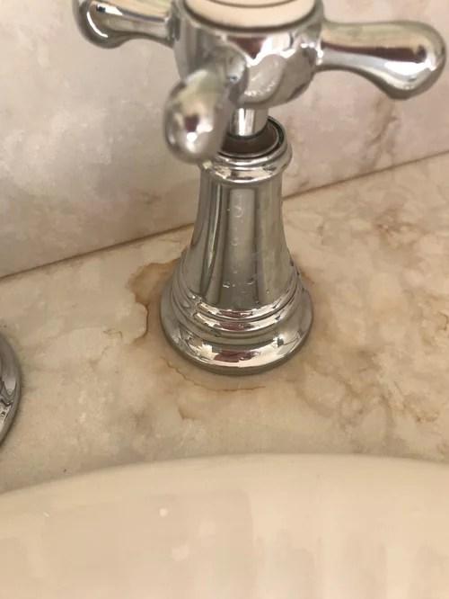 faucet handle leaking