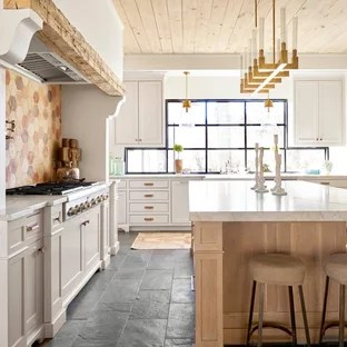 slate floor kitchen banquette 75 most popular farmhouse design ideas for 2019 large enclosed remodeling inspiration a l shaped black