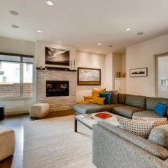 Contemporary Living Room Design Ideas Storage Side Tables 75 Most Popular For 2019 Example Of A Trendy Medium Tone Wood Floor And Brown In Denver