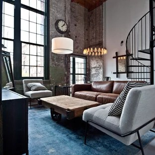 industrial living room furniture modern furnitures 75 most popular design ideas for 2019 mid sized urban open concept concrete floor and gray photo in atlanta