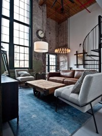 Best Industrial Living Room Design Ideas & Remodel