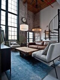 Best Industrial Living Room Design Ideas & Remodel ...