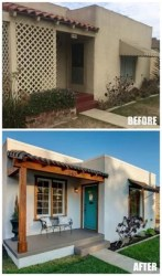 spanish exterior bungalow before beach makeover colonial revival homes sweet paint remodel designs renovation front decor porch renovations fachadas exteriors