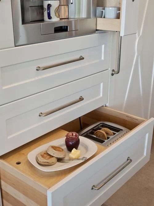 Toaster Storage Ideas Pictures Remodel and Decor