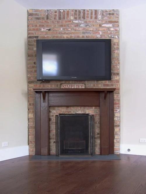 living room design ideas tv over fireplace country chic designs brick | houzz