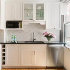 Kitchen Granite Countertops Cost Tables With Bench Chevron Backsplash | Houzz