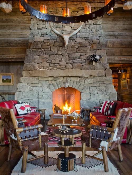 Rustic Fireplace Houzz