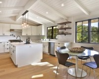 Farmhouse Vaulted Ceilings Kitchen Design Ideas & Remodel ...