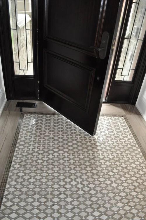 tile mimicking carpet inlay yes or no