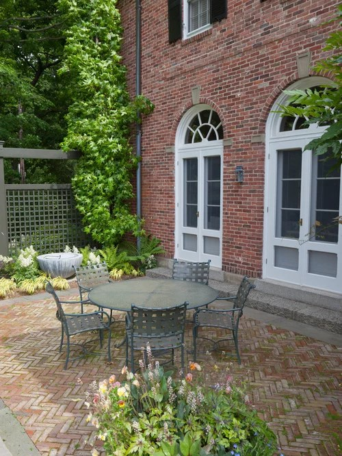 Brick Patio Home Design Ideas Pictures Remodel and Decor