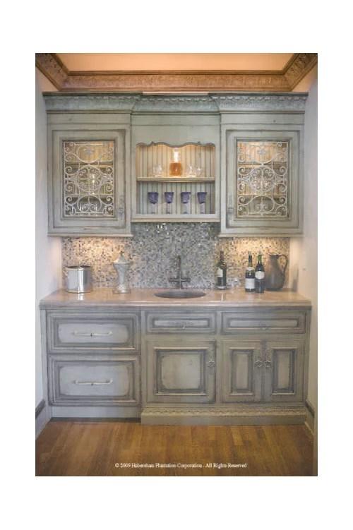 upper cabinets above wet bar