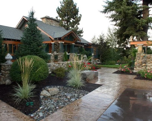 craftsman style landscaping home