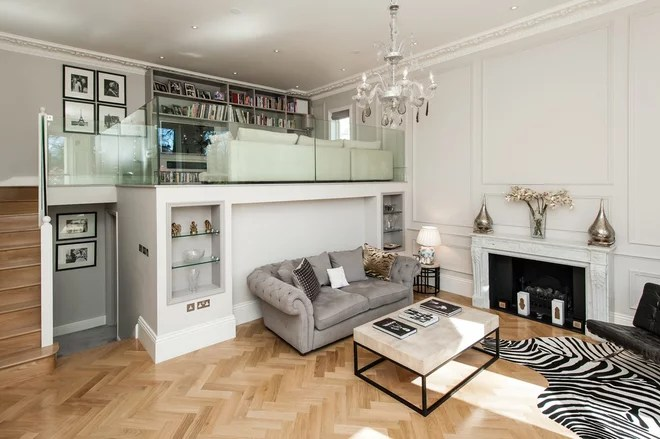 Traditional Living Room by Charlie Kingham | London