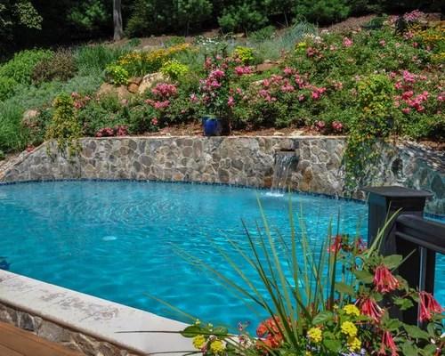 retaining wall pool home design
