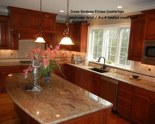 Crema Bordeaux Granite Slab  Houzz