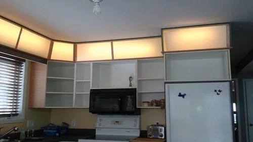 lighting above kitchen cabinets