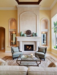 Stone Tile Fireplace | Houzz