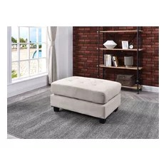 microfiber ottomans and footstools