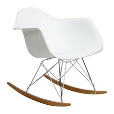 rocking chair height brown armless 24 inch seat chairs houzz interior trade furniture modern abs plastic rocker red