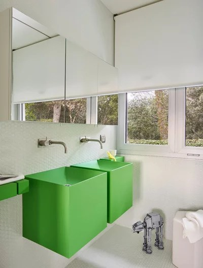 Contemporary Bathroom by YLAB Arquitectos Barcelona