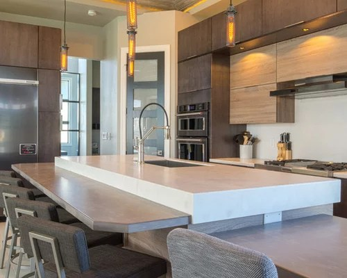 Unique Rustic Modern Home W Bold Solid Surface Countertops