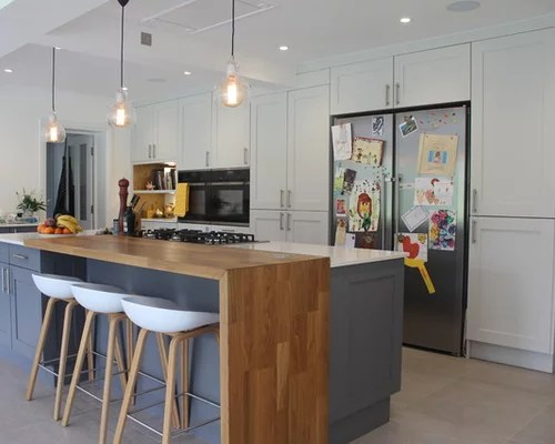 reclaimed wood kitchen island chrome faucets breakfast bar | houzz