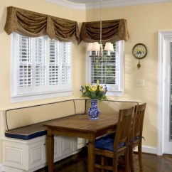 Kitchen Nook Curtains Single Handle Faucet With Side Spray Booth Seating | Houzz