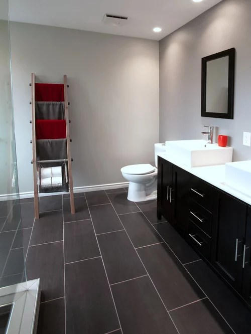 Modern Rustic Bathroom  Houzz