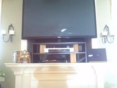 Wiring Flat Screen Tv Over Fireplace