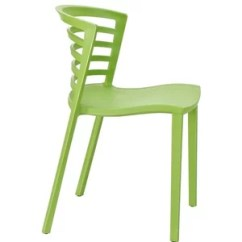 White Plastic Dining Chairs Computer Chair Wheels Modern Contemporary Side Ofilia Style Curvy Green 117