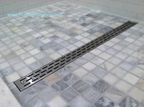 is the linear shower drain coming or going