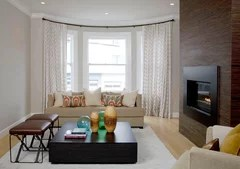 window treatments for a large bow window