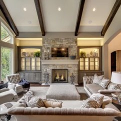 Traditional Living Room Ideas With Fireplace And Tv Storage Units Baskets 75 Most Popular Family Design For 2019 Example Of A Large Classic Dark Wood Floor In Minneapolis Beige Walls