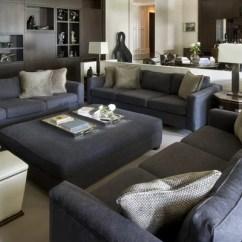 Living Room Arrangements With Sectionals Rooms Wood Walls Dark Gray Sofa   Houzz