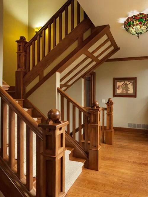 Best Craftsman Newel Post Design Ideas  Remodel Pictures