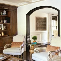 Modern Living Room With Dark Wood Floors Sofa For A Small Painted Arch Ideas, Pictures, Remodel And Decor