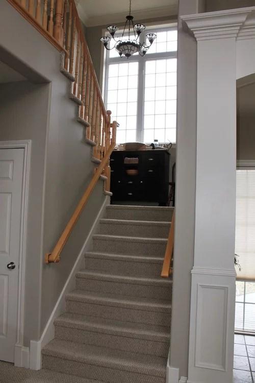 Advice Needed On Wood Or Carpet For Staircase Landing | Cost Of Carpet For Stairs And Landing | Sisal Stair Runner | Handrail | Wood | Carpet Runner | Hardwood