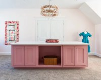 Pink Craft Room Home Design Ideas, Pictures, Remodel and Decor