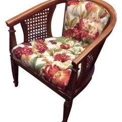 Mid Century Cane Barrel Chair Bean Bag Chairs For Adults Transitional Armchairs And Accent