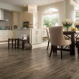 gray kitchen floor raised panel cabinets grey wood ideas photos houzz mid sized transitional open concept l shaped
