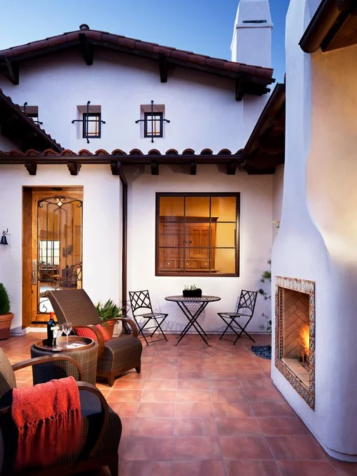 Best SpanishStyle Fireplace Design Ideas  Remodel Pictures  Houzz