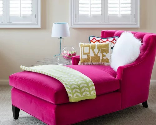 pink chaise lounge chair ity apple stand caper | houzz