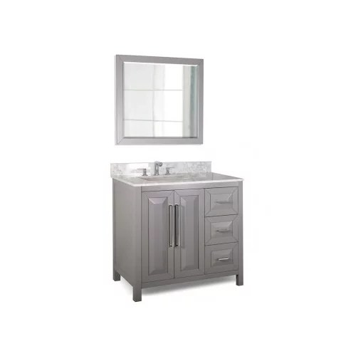 42 bathroom vanity with an offset sink