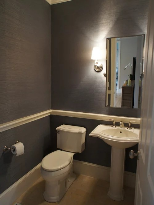 Powder Room Chair Rail Home Design Ideas Pictures Remodel and Decor