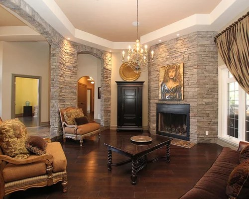 Best Stone Wall Fireplace Design Ideas  Remodel Pictures